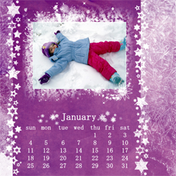 "Scrapbook template ""January #02"" in ""Calendars 2009"""