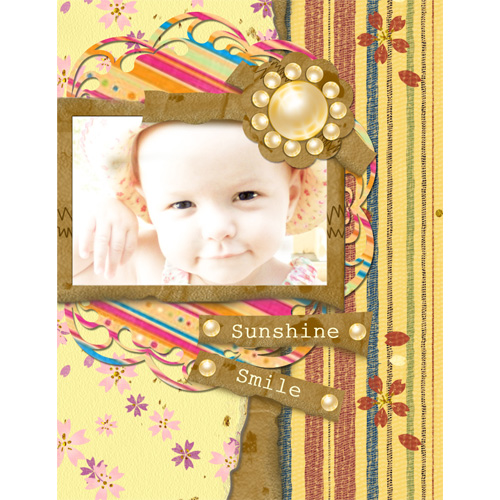 "Scrapbook template ""Family #05"" in ""Family"""