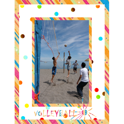 "Scrapbook template ""Volleyball #05"" in ""Sport"""