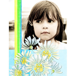 "Scrapbook template ""Flowers #03"" in ""Nature"""