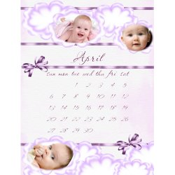 "Scrapbook template ""April #08"" in ""Calendars 2008"""