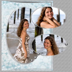 "Scrapbook template ""Silver Dreams #18"" in ""Silver Dreams"""