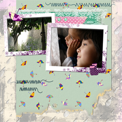 "Scrapbook template ""Rainy Day #08"" in ""Seasonal"""