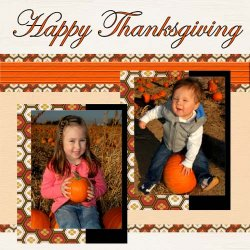 "Scrapbook template ""Thanksgiving #04"" in ""Thanksgiving"""