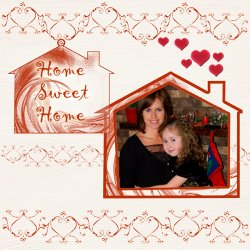 "Scrapbook template ""Home #06"" in ""Home"""