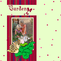 "Scrapbook template ""Garden #18"" in ""Nature"""