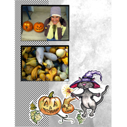 "Scrapbook template ""Painted Halloween #13"" in ""Halloween"""