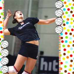 "Scrapbook template ""Volleyball #08"" in ""Sport"""