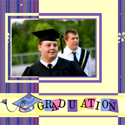 "Scrapbook template ""Graduation #16"" in ""Graduation"""