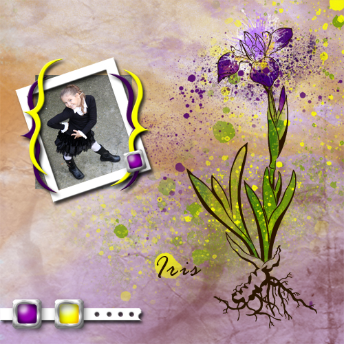 "Scrapbook template ""Spring flowers #08"" in ""Spring"""