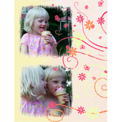 "Scrapbook template ""Friends #32"" in ""Friends Scrapbooking"""