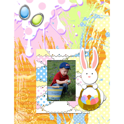 "Scrapbook template ""Easter 2010 #01"" in ""Easter"""