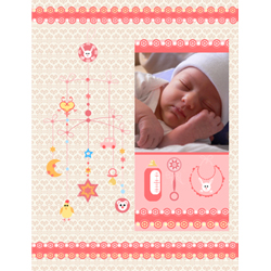 "Scrapbook template ""Baby Shower #13"" in ""Baby Shower"""