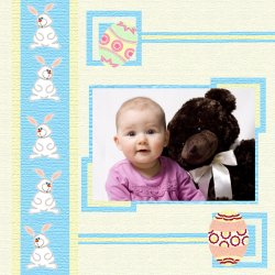 "Scrapbook template ""Easter #08"" in ""Easter"""