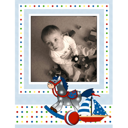 "Scrapbook template ""Toy Store #11"" in ""Baby Scrapbooking"""