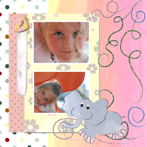 "Scrapbook template ""Funny zoo #14"" in ""Family"""