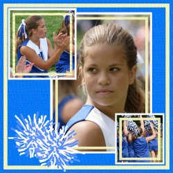 "Scrapbook template ""Cheerleaders #15"" in ""Cheerleaders"""