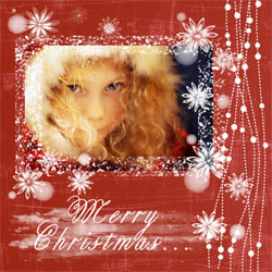 "Scrapbook template ""Christmas 2009 #01"" in ""Christmas Scrapbooking"""