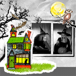 "Scrapbook template ""Painted Halloween #12"" in ""Halloween"""