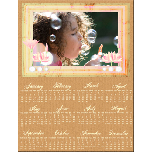"Scrapbook template ""Calendar2009 #17"" in ""Calendars 2009"""