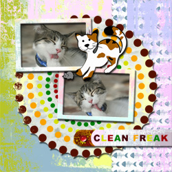 "Scrapbook template ""Cats Day #16"" in ""Pets"""