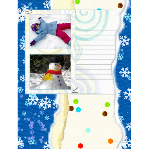 "Scrapbook template ""Winter time #07"" in ""Winter Vacation"""