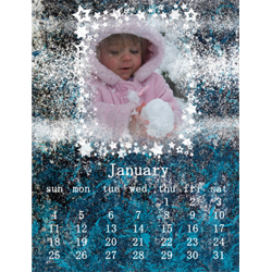 "Scrapbook template ""January #05"" in ""Calendars 2009"""