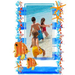 "Scrapbook template ""Sea life #18"" in ""Sea life"""