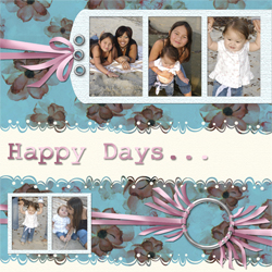 "Scrapbook template ""Family #04"" in ""Family"""