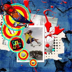"Scrapbook template ""Skateboard #18"" in ""Sport"""