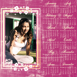 "Scrapbook template ""Calendar2009 #04"" in ""Calendars 2009"""