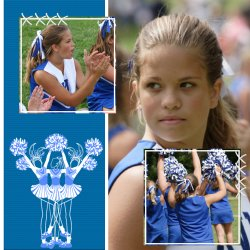 "Scrapbook template ""Cheerleaders #16"" in ""Cheerleaders"""