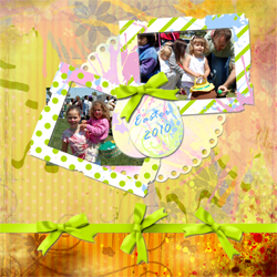 "Scrapbook template ""Easter 2010 #18"" in ""Easter"""