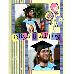 "Scrapbook template ""Graduation #19"" in ""Graduation"""