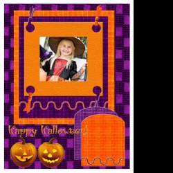 "Scrapbook template ""PhotoMix Little Witch #4"" in ""Halloween"""