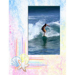 "Scrapbook template ""Surfing #15"" in ""Summer Vacation"""