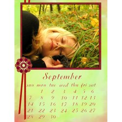 "Scrapbook template ""September #13"" in ""Calendars 2008"""