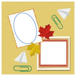 "Scrapbook template ""Back to School #5"" in ""Back to School"""