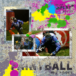 "Scrapbook template ""Paintball #04"" in ""Sport"""