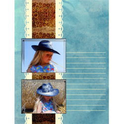 "Scrapbook template ""Wild West #09"" in ""Travel"""
