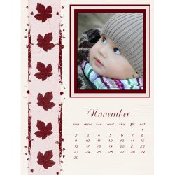 "Scrapbook template ""November #15"" in ""Calendars 2008"""