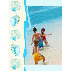 "Scrapbook template ""Summer #17"" in ""Summer Vacation"""