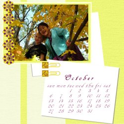 "Scrapbook template ""October #16"" in ""Calendars 2008"""