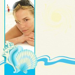 "Scrapbook template ""Summer #08"" in ""Summer Vacation"""