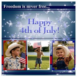 "Scrapbook template ""Independence Day #3"" in ""Independence"""