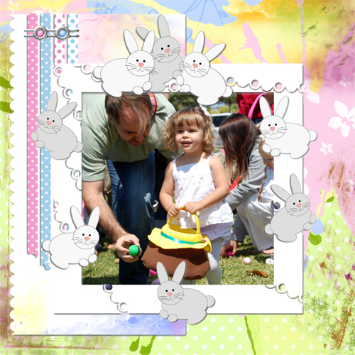 "Scrapbook template ""Easter 2010 #16"" in ""Easter"""