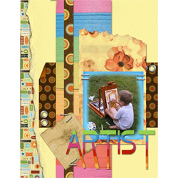 "Scrapbook template ""Family #01"" in ""Family"""