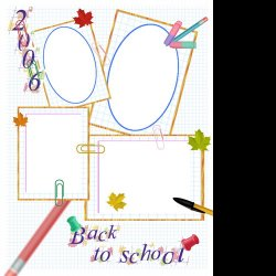 "Scrapbook template ""Back to School # 7"" in ""Back to School"""