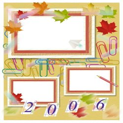 "Scrapbook template ""Back to School # 6"" in ""Back to School"""