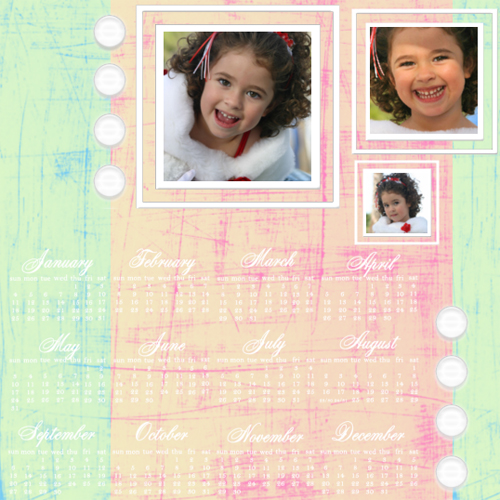 "Scrapbook template ""Calendar2009 #06"" in ""Calendars 2009"""